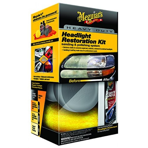 Meguiar Heavy Duty Headlight Restoration Kit bulk image