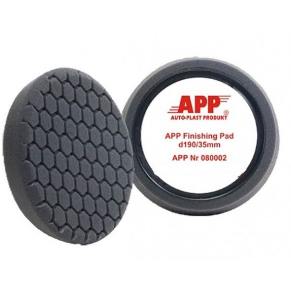APP Black Hex Pad 7.5 Inch, Dia190mm- Finishing & Polishing DM IMAGE