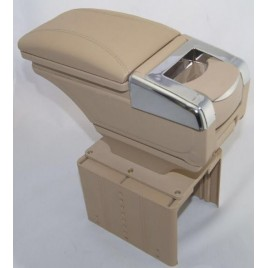 Luxury Beige Arm Rest Console With Cup Holder