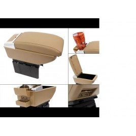 Luxury Beige Arm Rest  With Cup Holder + USB Chargeing