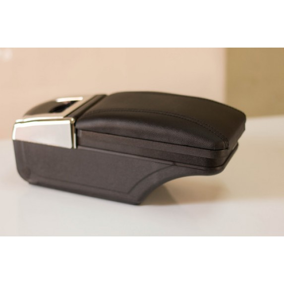 Luxury Black Arm Rest Console With Cup Holder image