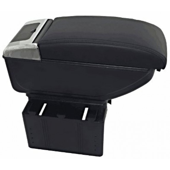 Luxury Black Arm Rest With Cup Holder USB Chargeing image