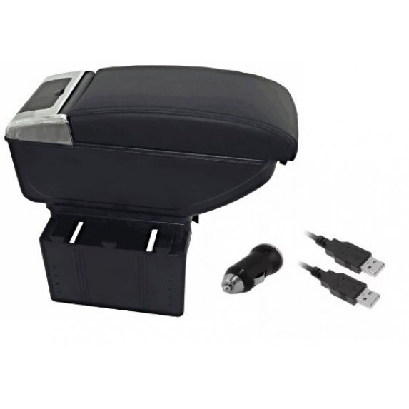 Luxury Black Arm Rest  With Cup Holder  USB Chargeing