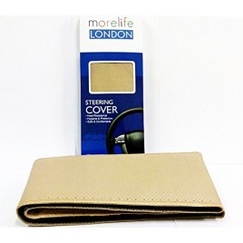 MoreLife London Beige Stitch able steering Cover