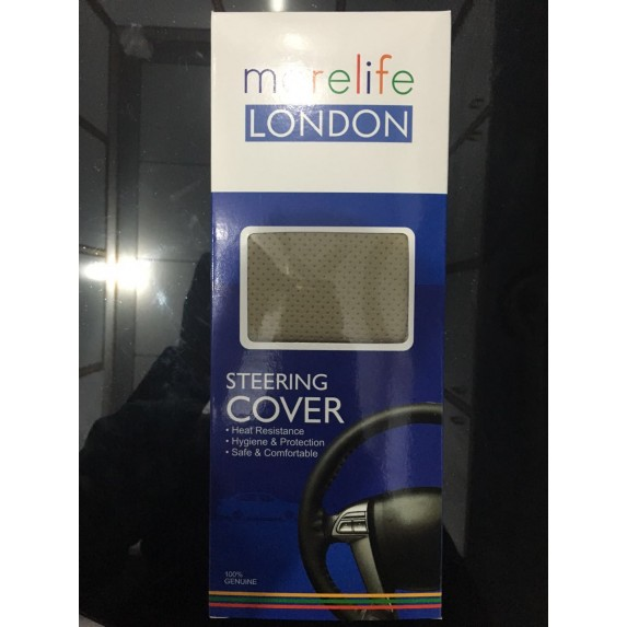 MoreLife London Beige Stitch able steering Cover image