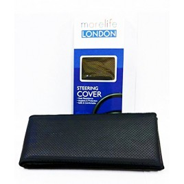 MoreLife London Black Stitch able steering Cover