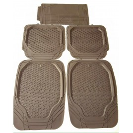 QPro Tan 4D Rubber Car Mats