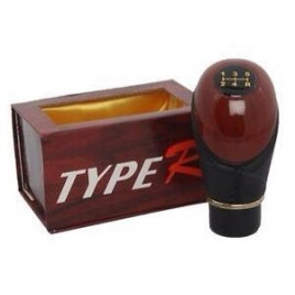Type R Wooden Finish 5 Speed Gear Knob